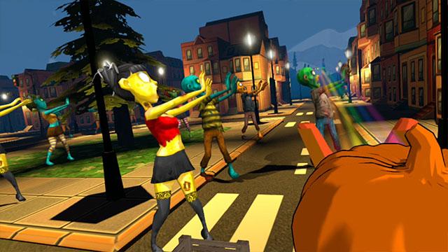 Ready Aim Splat VR Zombie Slingshot Game